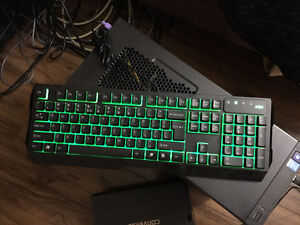 Half month old gaming keyboard with green back light
