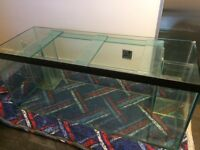 4ft fish tank with twin overflow boxes