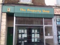 Shop along 2 rooms in high street chatham