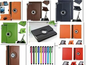 360 ROTATING PU LEATHER CASE COVER IPAD MINI, AIR VARIOUS COLORS