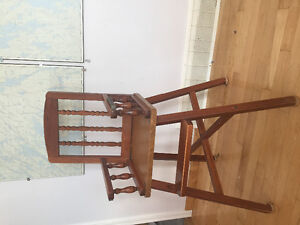 Old school solid wood high chair