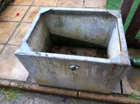 Galvanised water tank