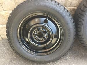 4 pneus d'hiver 195/65r15 Général Altimax Artic/ Subaru Legacy