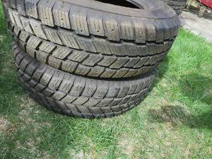 Pair of Hancook 215 70 R 15 Tires I Pike Winter