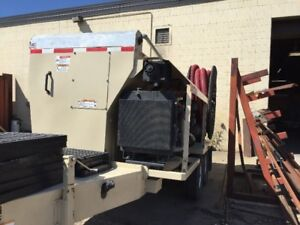 Used FINN Material Blower for Mulch, Compost, Soil, Wood Chips