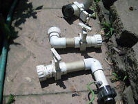 POOL OR HOT TUB WATER SHUT OFF VALVES AND MORE