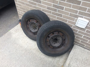 2 General 215/70 R 15 Tires on Rims