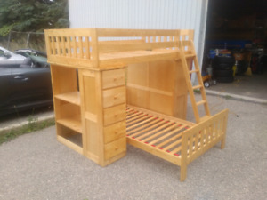 SOLD-  Bunkbeds with dresser and desk