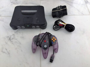 Nintendo 64 System in Great Shape with All Hook Ups