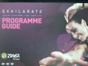 "Zumba ""Exhilarate"" fitness/exercise DVD set & weights"