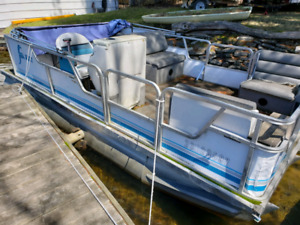 90's Pontoon Boat for Sale - As Is