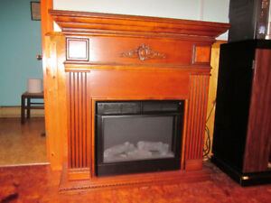 Fireplace freestanding electric