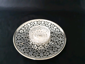 Vintage Mid Century EPNS Warwick Plate With Cut Glass Bowl