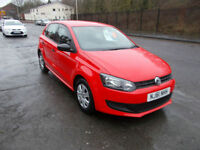 VOLKSWAGEN POLO 1.2 S 5 DOOR 46,000 MILES BRIGHT RED LOW INS GROUP 2011-61
