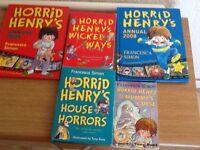 Horrid Henry's books x3 & 2 Annuals