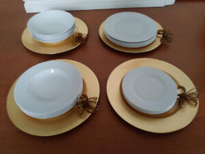 16 piece 4 people plate set & more misc kitchenware