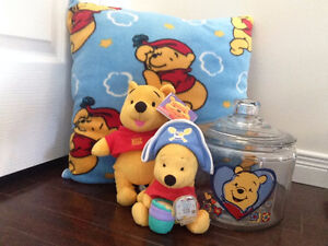 Winnie the Pooh Pillow, Bears & Jar Collection