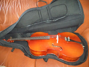 Early Karl Knilling Model 158H ½ Cello W/ Bow & Case