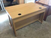 Straight 1600 and 1200 oak desks.