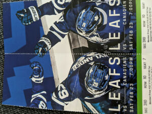 Toronto Maple Leafs vs Montreal Canadiens Feb 22 - 2 tickets