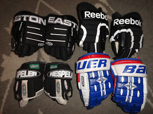 """3 Sets of Youth Hockey Gloves & """"1 NEW Pair"""" London Ontario image 1"""