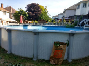 Large above ground pool.  4 feet deep.