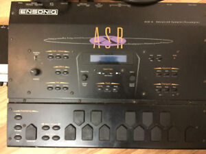 ASR  x ensoniq sampler and interface with cords