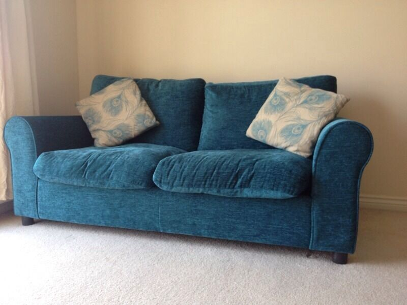 Tessa Fabric Sofa Bed Teal In Eastleigh Hampshire