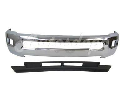 (FRONT BUMPER CHR FACE BAR AIR DAM DEFLECTOR For DODGE RAM 2500 3500 2013-18 W/HO)