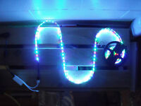 LED en STRIP avec Manette INFRA-ROUGE; 24 couleurs + 6 modes!!!