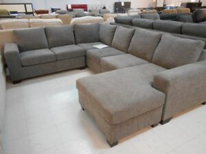 Selection of floor model sectionals on sale