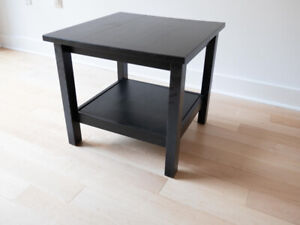 Ikea Hemnes Side Table 55 x 55 cm in black-brown colour
