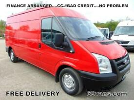 2013 63 FORD TRANSIT LWB, 6 SPEED, 1 FLEET OWNER - ARVAL, FSH, AIR CON, 125-BHP