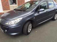 307 PEUGEOT 1.4 PETROL 06PLATE. LOW MILEAGE 98K. 1YEAR MOT. TAXED