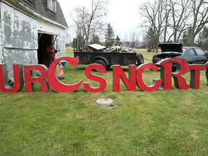 """Large 30"""" & 38"""" aluminum (bold red lighted) LETTERS"""