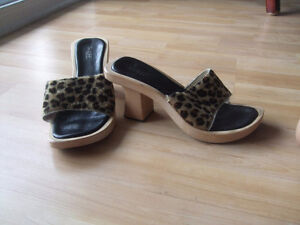 Guess chaussures mules en bois size taille 9 Neufs New