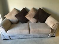 Large 3 seater sofa swivel chair and storage footstool