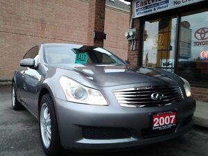 2007 Infiniti G35x NAVIGATION,AWD,AUTO,SUNROOF,LEATHER,$6999