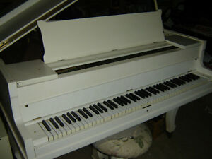 White Baby Grand Piano Need it gone Belleville Belleville Area image 1