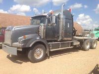 Log haul super B truck driver