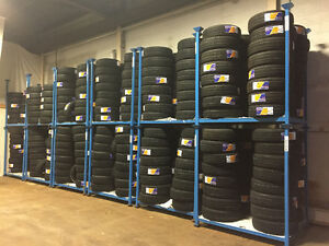 NEW & USED STACKING RACKS.TIRE RACKS ON SALE.PORTABLE STACK RACK