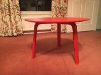 Designer Scandinavian Round Coffee Table - Red