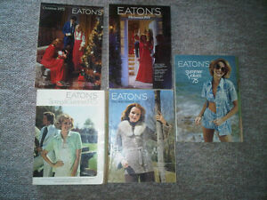 Eaton's Catalogues 1974-1975 (Spring, Summer, Christmas, etc)