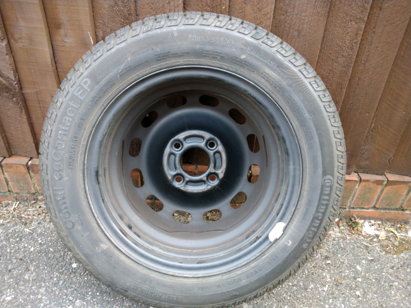 CONTINENTAL TYRE 175//65R14 82T WITH 4 STUD VAUXHALL STEEL RIM