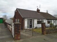 Fully modernised semi detached bungalow in popular location close to schools and shops