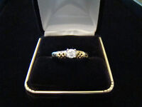 .30ct Diamond Solitare 14k Gold Engagement Ring