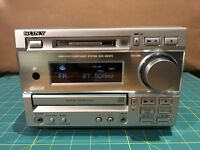 Sony MD/CD Mini System. MD, CD, Tuner. *INTERMITTENT NOISE ON SIGNAL OUTPUT*