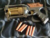 Maverick Rev 6 Steampunk nerf gun - LARP, cosplay