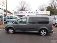 Volkswagen Caddy Maxi 4 Seat AUTOMATIC Wheelchair Scooter Accessible WAV Car.