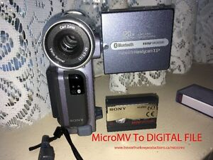 MICROMV CAMCORDER TAPES TO HARD DRIVE/DVD